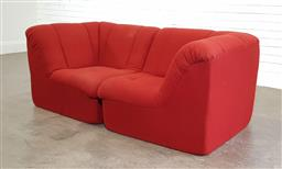 Sale 9188 - Lot 1665 - Fabric upholstered early King Furniture 2 seater 2 piece lounge (h70 x w170 x d85cm)