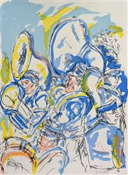 Sale 8019A - Lot 95 - Salvatore Zofrea (1946 - ) - Untitled (Marching Band) 76 x 56cm