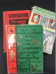 Sale 8539M - Lot 164 - 3 Vols., Cassells Book of Indoor Amusements, Card Games and Fireside Fun, attractive facsimile of 1881 edition, 1973 in hardcover...