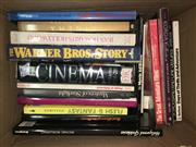 Sale 8659 - Lot 2336 - Box of Film Books incl. Stockham, M. The Korda Collection; Stallings, P. Flesh & Fantasy the truth behind the fantasy the fantasy...