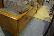 Sale 8134 - Lot 1065 - Converted Blanket Box With Upholstered Seat