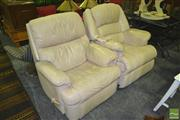 Sale 8227 - Lot 1095 - 2 Similar Leather Recliners