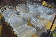 Sale 8326 - Lot 1394 - Set Of Six Outdoor Chairs In White