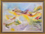 Sale 8403A - Lot 5085 - Charles Bannon (1919 - 1993) - Valley in the Flinders Rangers, 1980 84.5 x 75.5cm