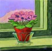 Sale 8565A - Lot 5093 - Stanley Perl (1942 - ) - Flowers by the Window 51.5 x 51cm