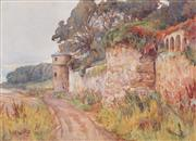 Sale 8443 - Lot 553 - Hans Heysen (1887 - 1968) - East Wemyss, Scotland 24.5 x 34.5cm