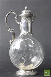 Sale 8516 - Lot 28 - French Sterling Silver Claret Jug