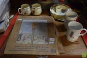 Sale 8530 - Lot 2363 - Group of Childrens Items incl Bunnykins & Holly Hobbie Ceramics with Talking Gramophones Record Books