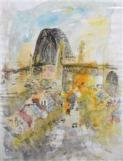 Sale 8563T - Lot 2024 - Artist Unknown - From Observatory, ink and watercolour, 50 x 40cm, signed lower right
