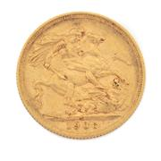 Sale 8855H - Lot 52 - 1906 gold sovereign weight approx 7.95g, S above 1906