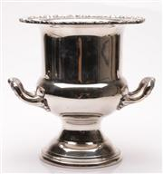 Sale 9049 - Lot 47 - Plated twin handled urn form champagne bucket (H26cm)