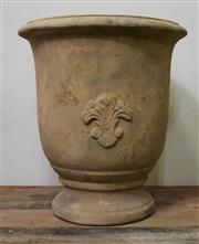 Sale 9087H - Lot 262 - A French style Anduze terracotta pot.  43 cm diameter, 50cm height