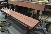 Sale 8099 - Lot 831 - Pair of Outdoor Benches