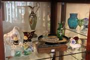 Sale 8116 - Lot 91 - Carlton Ware Vase with Other Items incl an Onyx Ewer (AF)