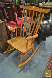 Sale 8262 - Lot 1049 - Timber Rocking Armchair