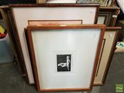 Sale 8474 - Lot 2044 - Group of (4) Original Artworks by Various Artists Including Landscape Oil Painting, Portrait, Canal Scene & Erotic Etching