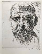 Sale 8527A - Lot 6 - Arthur Boyd (1920 - 1999) - Self-Portrait 68 x 52cm