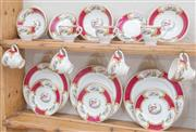 Sale 8550H - Lot 159 - A part service Myott dinner set in the Chelsea bird pattern including tea cups, plates, saucers and bowls