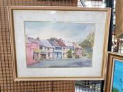 Sale 8699 - Lot 2072 - N. Roper - Street Scene, Watercolour