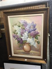 Sale 8824 - Lot 2049 - A Painting of Hydrangeas by Olga Varpa, 76.5 x 61cm (frame)