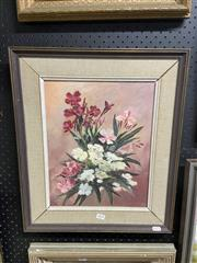 Sale 8995 - Lot 2075 - J Buxton  Still Life - Mixed Bunch oil on board 53 x 45cm (frame) signed