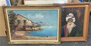 Sale 9011 - Lot 2084 - R. A Chapman (3 works) English Town and Country Scenes & Portrait of Middle Eastern Man c1950s oils on canvas board, 50 x 60cm; 36...
