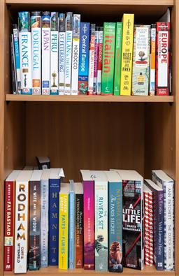 Sale 9162H - Lot 68 - Two shelf lot of books including travel & others.