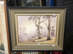 Sale 9176 - Lot 2179A - Graham Charlton Two Gums oil on board 29.5 x 39.5cm, signed lower left, titled verso -