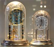 Sale 7950 - Lot 62 - 2 Glass Dome Clocks Koma and Kundo