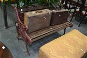 Sale 8046 - Lot 1096 - Cast Iron End Slat Bench