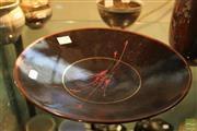 Sale 8217 - Lot 168 - Greg Daly Black Bowl with Red Splash
