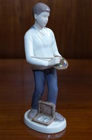 Sale 8313A - Lot 58 - A B&G Copenhagen figure of a painter, painted marked 2350 HO, height 24cm