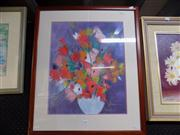 Sale 8437 - Lot 2023 - M Daens - Flower, Mixed Media, 49 x 39cm, signed lower right