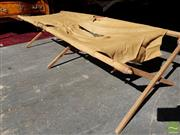 Sale 8469 - Lot 1016 - A fold up squatters bed