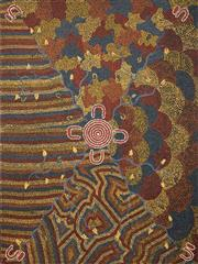 Sale 8576A - Lot 5043 - Vanessa Nungari - Women's Bush Tucker Dreaming 122 x 91cm (stretched & ready to hang)