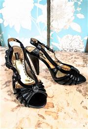 Sale 8577 - Lot 128 - A pair of black strappy Mimco open toe slingback heels, size  38, Condition: Excellent