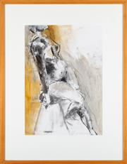 Sale 8863H - Lot 67 - Artist Unknown - Femal Nude signed and dated lower right, Chains? 2001