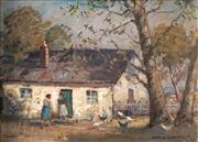 Sale 8992 - Lot 548 - James R Jackson (1882 - 1975) - Country Homestead 29 x 38.5 cm (frame: 44 x 55 x 6 cm)