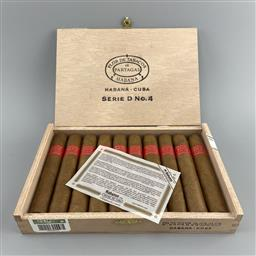 Sale 9182W - Lot 838 - Partagas Serie D No. 4 Cuban Cigars - box of 10 cigars, dated December 2019