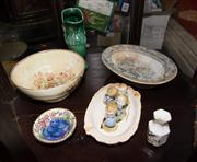 Sale 7962B - Lot 85 - Shelf lot of ceramics including Maling and Hammersley wares
