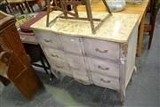 Sale 8019 - Lot 1069 - Marble Top Painted Chest of 3 Drawers (217)