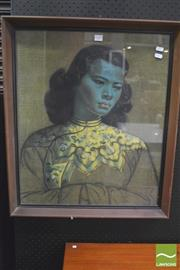 Sale 8310 - Lot 1020 - Framed Tretchikoff - The Chinese Girl