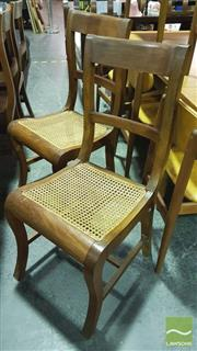 Sale 8392 - Lot 1092A - Set of 8 Timber Dining Chairs with Rattan Seats