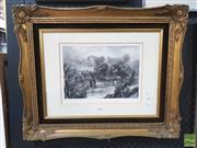Sale 8449 - Lot 2026 - Print of Eaglestone Abbey in Gilt Frame