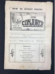 Sale 8539M - Lot 166 - The Conjurer 1922 - a full set of 11 issues (no publication for October), vol. 1 no. 1 to vol. 1 no. 11.  Ex J. Albert Briggs co...