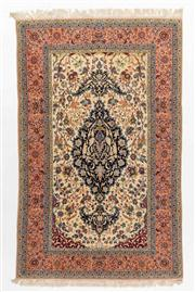 Sale 8770C - Lot 104 - A Very Fine Antique Esfahan From Region Of Isfahan 100% Wool, 242 x 153cm