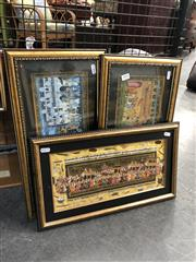 Sale 8797 - Lot 2056 - Set of (3) Contemporary Indo-Persian Paintings by Various Artists