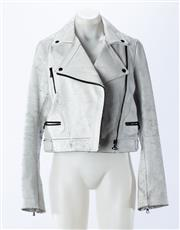 Sale 8910F - Lot 1 - A Proenza Schouler leather jacket in white, size 8
