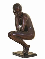 Sale 8959A - Lot 5028 - Nude in Pose bronze sculpture After Alliot, h. 36, h. 14,