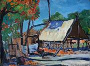 Sale 8976A - Lot 5052 - Roy Dalgarno (1910 - 2001) - The Camp, 1941 29 x 39 cm (frame: 38 x 48 x 3 cm)